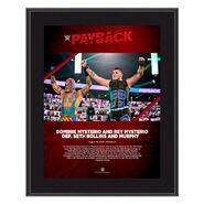 Dominik Mysterio & Rey Mysterio Payback 2020 10x13 Commemorative Plaque