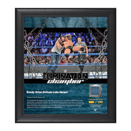 Randy Orton Elimination Chamber 2017 15 x 17 Framed Plaque w Ring Canvas