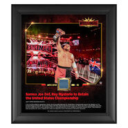 Samoa Joe WrestleMania 35 15 x 17 Framed Plaque w Ring Canvas