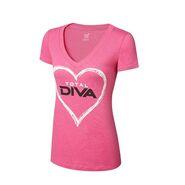 Total Diva Pink Women's V-Neck T-Shirt