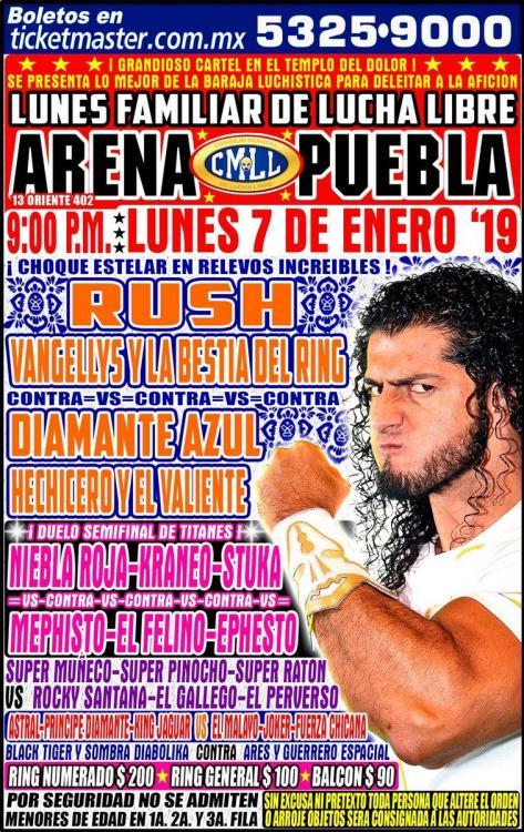 CMLL Lunes Arena Puebla (January 7, 2019)