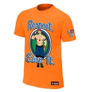 John Cena Respect. Earn It. Orange Youth Authentic T-Shirt