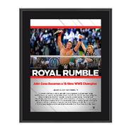 John Cena Royal Rumble 2017 10 x 13 Commemorative Photo Plaque