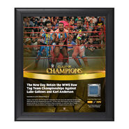 The New Day Clash of Champions 2016 15 x 17 Framed Plaque w Ring Canvas