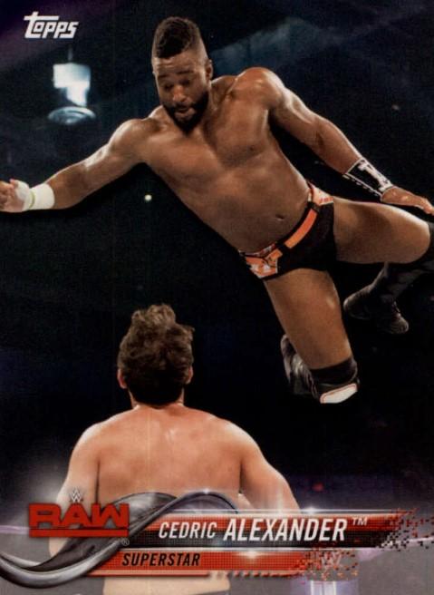 2018 WWE Wrestling Cards (Topps) Cedric Alexander (No.22)
