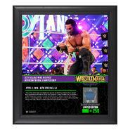 Seth Rollins WrestleMania 34 15 x 17 Framed Plaque w Ring Canvas