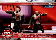 2019 WWE Road to WrestleMania Trading Cards (Topps) Cesaro & Sheamus 23