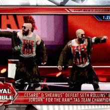 2019 WWE Road to WrestleMania Trading Cards (Topps) Cesaro & Sheamus 23.jpg