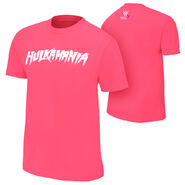 Hulk Hogan Hulkamania Courage Conquer Cure Pink T-Shirt