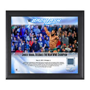 Jinder Mahal BackLash 2017 15 x 17 Framed Plaque w Ring Canvas
