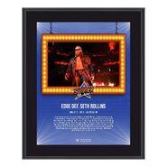 Edge SummerSlam 2021 10x13 Commemorative Plaque