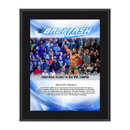 Jinder Mahal BackLash 2017 10 x 13 Commemorative Photo Plaque
