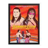 British Bulldog vs Bret Hitman Hart 18x24 Framed Giclée Print