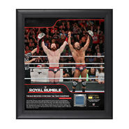 The Bar Royal Rumble 2018 15 x 17 Framed Plaque w Ring Canvas