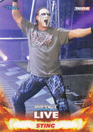 2013 TNA Impact Wrestling Live Trading Cards (Tristar) Sting 4