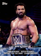 2018 WWE Road to Wrestlemania Trading Cards (Topps) Jinder Mahal 89
