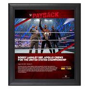 Bobby Lashley Payback 2020 15x17 Commemorative Plaque