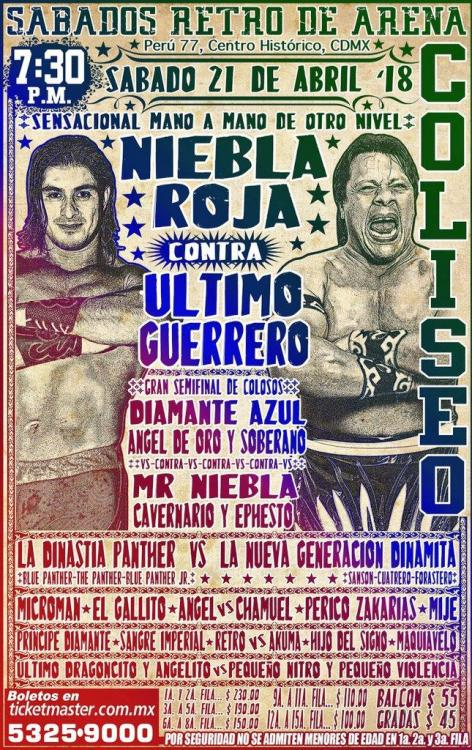 CMLL Sabados De Coliseo (April 21, 2018)