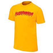 Hulk Hogan Hulkamania Yellow Authentic T-Shirt