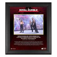 Roman Reigns Royal Rumble 2021 15 x 17 Commemorative Plaque