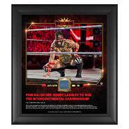 Finn Balor WrestleMania 35 15 x 17 Framed Plaque w Ring Canvas
