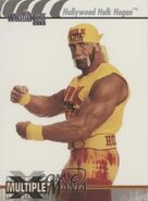 2003 WWE WrestleMania XIX (Fleer) Hollywood Hulk Hogan 78