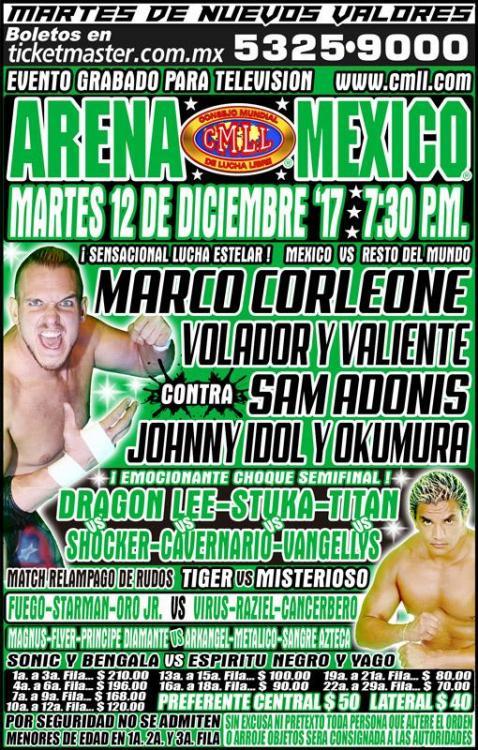 CMLL Martes Arena Mexico (December 12, 2017)
