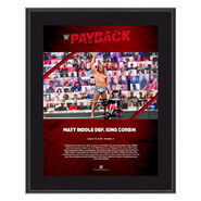 Matt Riddle Payback 2020 10x13 Commemorative Plaque
