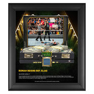 Roman Reigns Money in The Bank 15 x 17 Frame w Ring Canvas