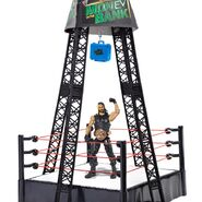 WWE Money In The Bank Ring with Seth Rollins Figure