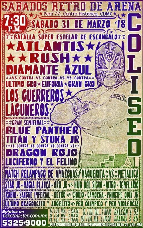CMLL Sabados De Coliseo (March 31, 2018)