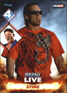 2013 TNA Impact Wrestling Live Trading Cards (Tristar) Sting 40