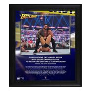 Roman Reigns FastLane 2021 15 x 17 Commemorative Plaque