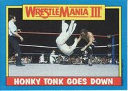 1987 WWF Wrestling Cards (Topps) Honky Tonk Goes Down 52