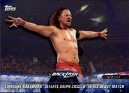 2018 WWE Road to Wrestlemania Trading Cards (Topps) Shinsuke Nakamura 87