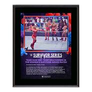 Women's Elimination Match Survivor Series 2020 10 x 13 Commemorative Plaque