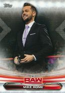 2019 WWE Raw Wrestling Cards (Topps) Mike Rome 50