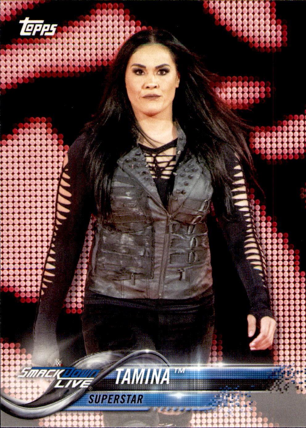 2018 WWE Wrestling Cards (Topps) Tamina (No.88)