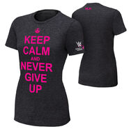 John Cena Keep Calm and Never Give Up Courage Conquer Cure Women's T-Shirt