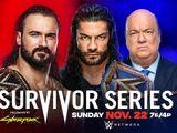 Survivor Series 2020 Drew McIntyre v Roman Reigns