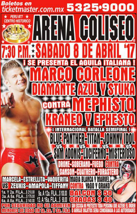 CMLL Sabados De Coliseo (April 8, 2017)