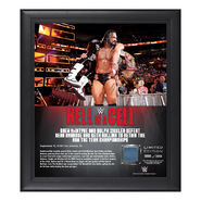 Dolph & Drew Hell in a Cell 2018 15 x 17 Framed Plaque w Ring Canvas
