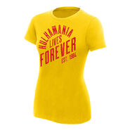 Hulk Hogan Hulkamania Lives Forever Women's Authentic T-Shirt