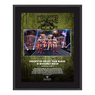 Undisputed Era NXT TakeOver WarGames 2020 10x13 Commemorative Plaque