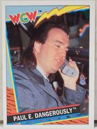 1992 WCW Trading Cards (Topps) Paul E. Dangerously 21