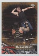 2017 WWE Road to WrestleMania Trading Cards (Topps) Dean Ambrose 100