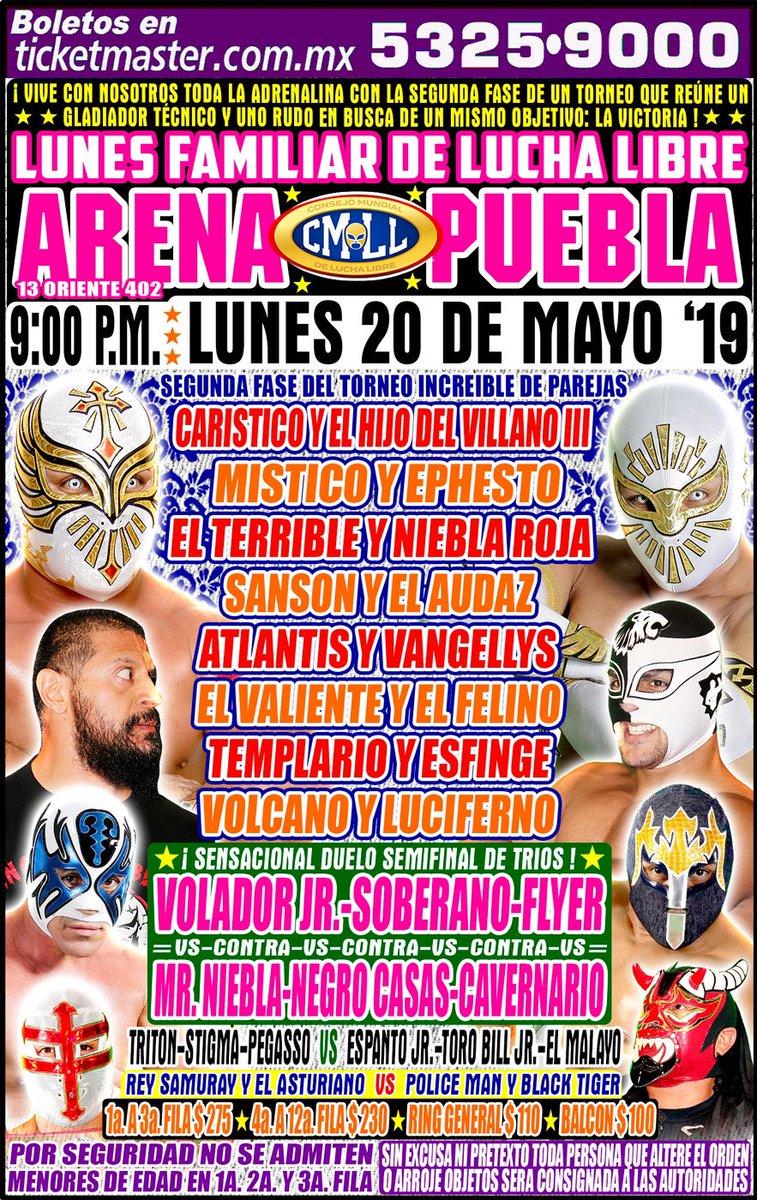 CMLL Lunes Arena Puebla (May 20, 2019)