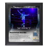 Naomi No Mercy 2016 15 x 17 Framed Plaque w Ring Canvas