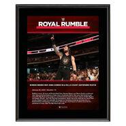 Roman Reigns Royal Rumble 2020 10x13 Commemorative Plaque