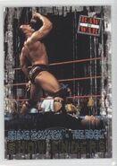 2001 WWF RAW Is War (Fleer) Shane McMahon vs. The Rock 96